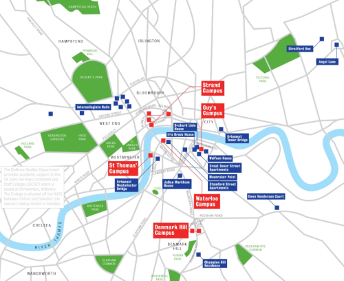 Campuses of King's College London